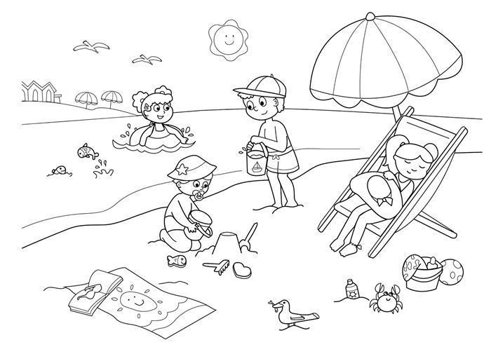 parasol vacances jeux enfant sur plage chaise longue jouets en plastique sable mer parasol soleil dessin pour enfant filles garçons