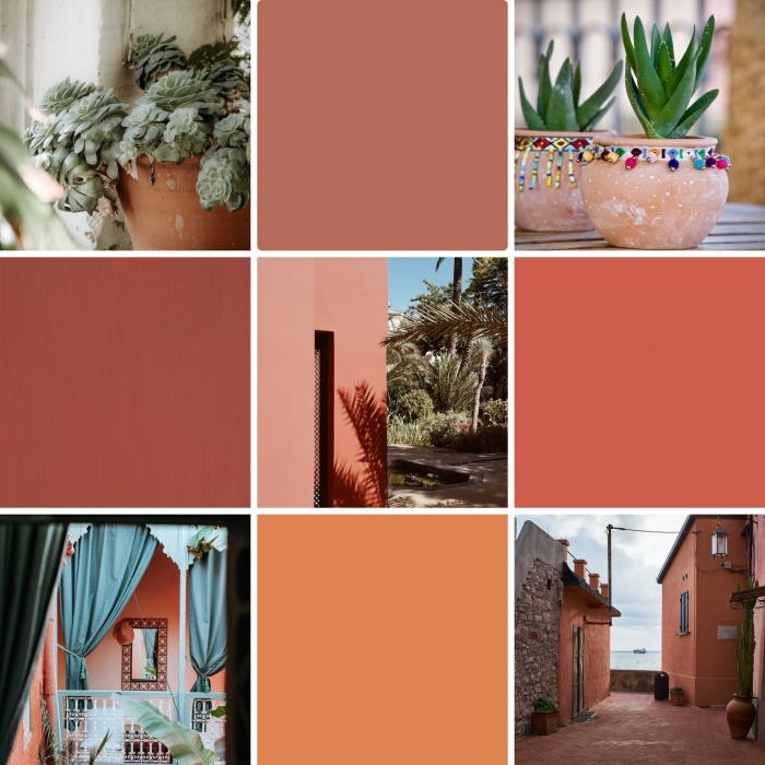 peinture couleur terracotta tendance design intérieur pot de fleur terre cuite marrakesh façade maison terracotta plantes vertes décoration exotique