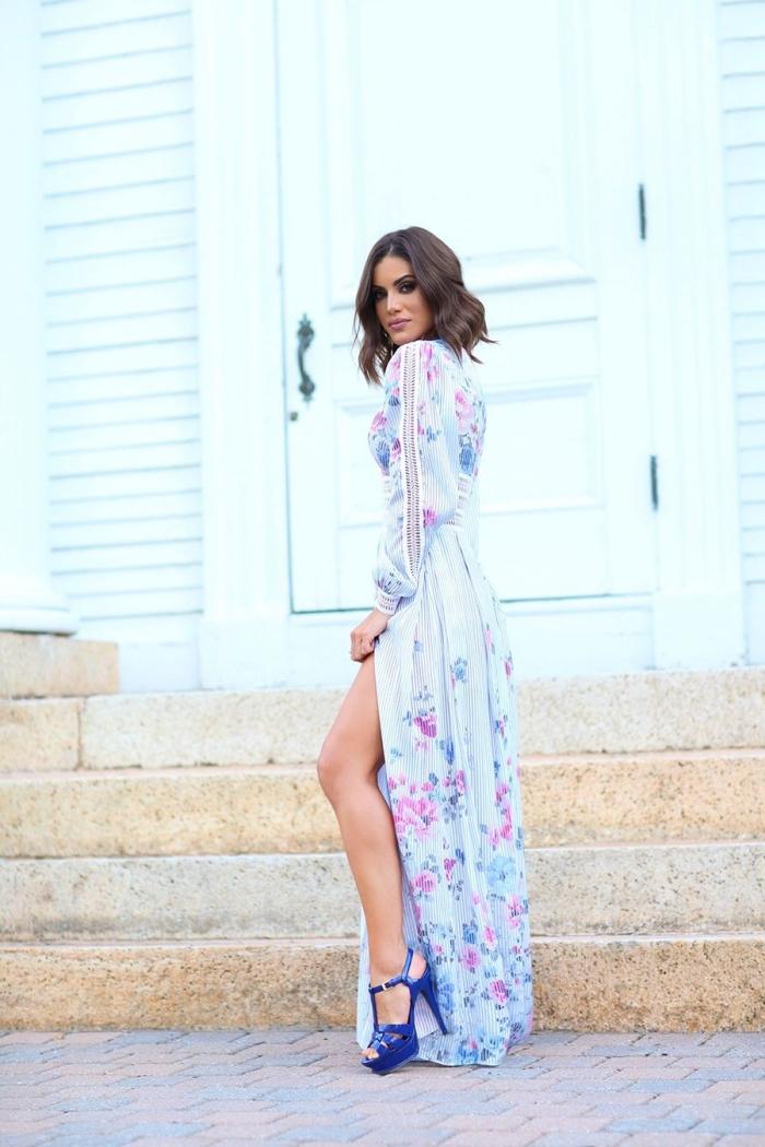 robe pour aller à un mariage comment s habiller pour cérémonie mariage invitée femme chic robe longue fendue