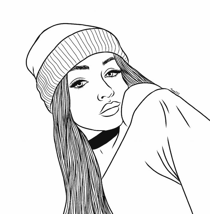 superbe image levres bodeuses visage de fille belle dessin tumblr comment dessiner une fille kawaii ou style swag