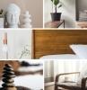 tendance décoration intérieure style japonais statuette bouddha plantes vertes intérieur meubles bois minimalisme décor