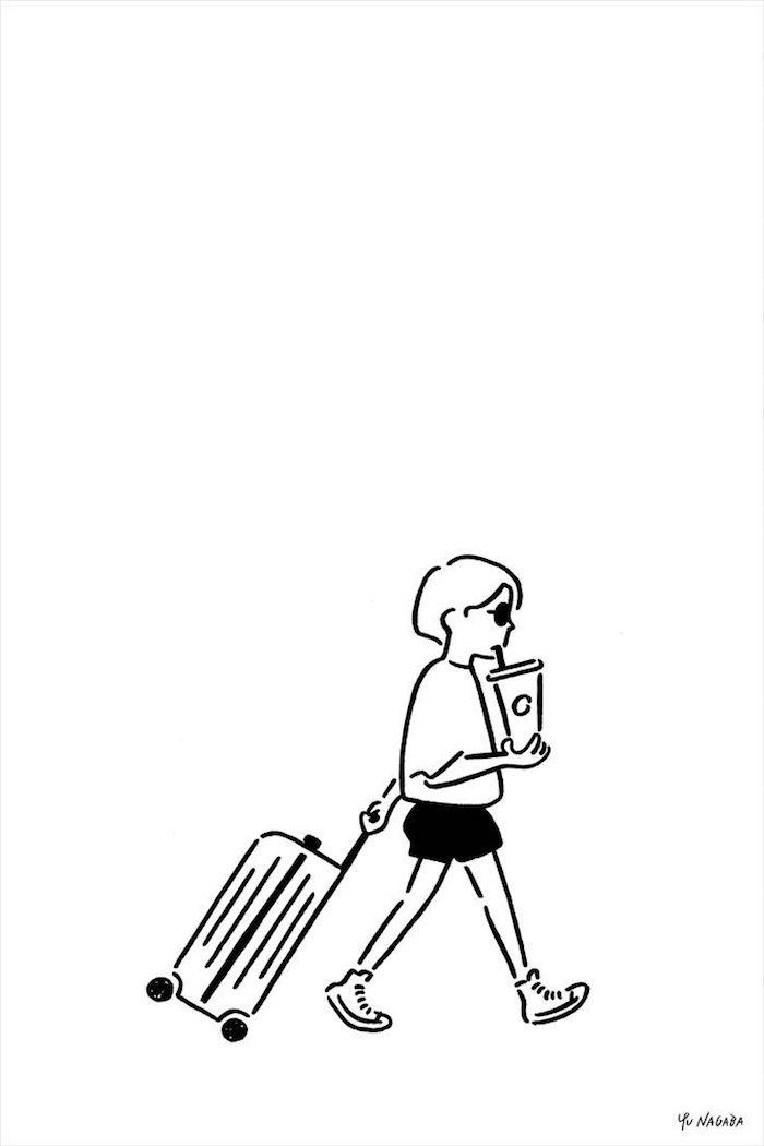 voyager simple dessin ville et valise fille tumblr dessin les meilleures idées de dessins à faire