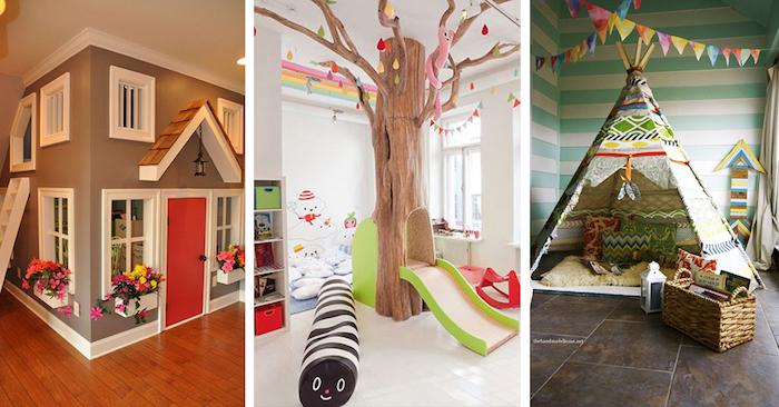 adorables idées pour l amenagement du coin enfant maison tipi ou toboganne meuble de rangement enfant boite rangement ikea