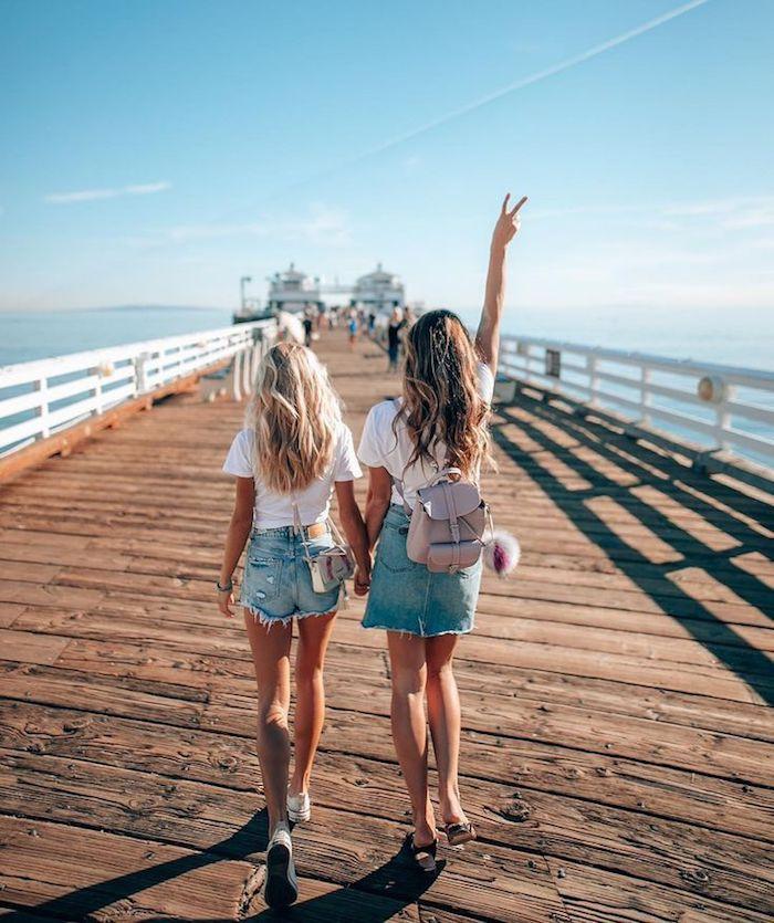 amies promenade fantastique idée tenues coordonnees fille de 14 ans belle combiner les differents vetements pour belle tenue