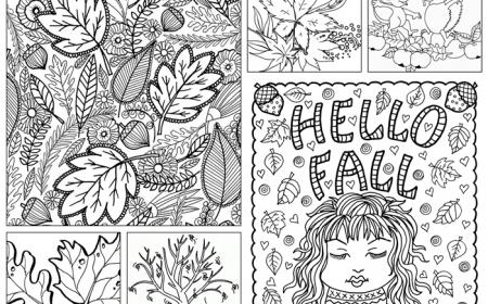 1001 Pages De Coloriage D Automne Pour Enfants Et Adultes