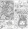 art therapie coloriage adultes dessin a imprimer et colorer pour enfant coloriage automne saison animaux foret feuilles