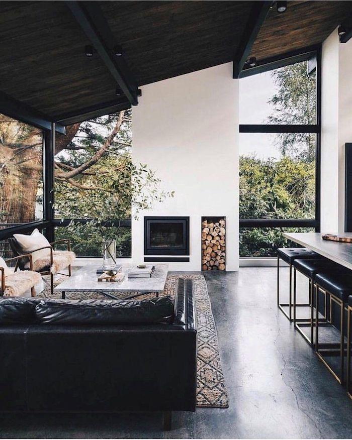 belle maison meilleure peinture plafond noir comment associer les couleurs rustique interieur a la montagne