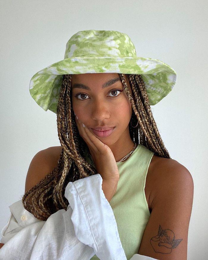chic en vert tresse affricaine vetement ado fille mes tenues pour la rentrée cool idée vetements swag