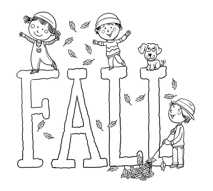 coloriage novembre maternelle lettres automne à colorier dessin simple jeux d enfants nature automne animal de compagnie