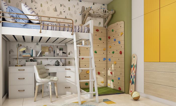 cool idée chambre beige bois couleurs de la nature meuble rangement enfant idée déco salle de jeux