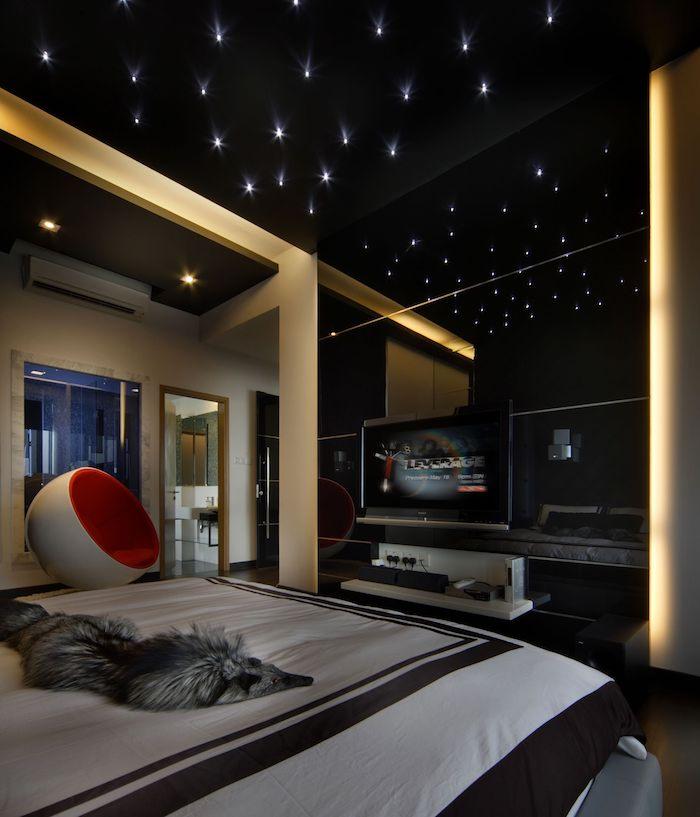 deco plafond decoratif lumineuse quelle couleur va le mieux avec le noir fauteuil comme oeuf blanc et rouge