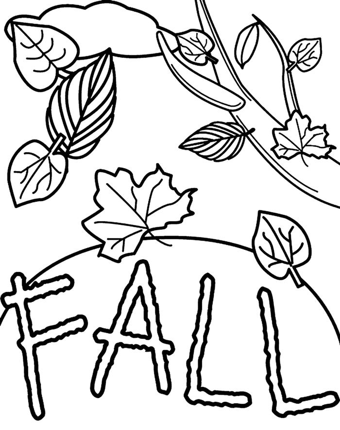 feuille automne dessin simple à imprimer et colorer pour enfants dessin feuille tombante vent automne lettres coloriage
