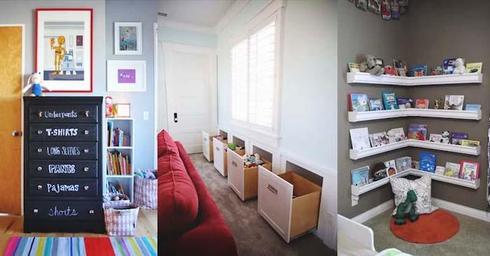 genial moyen pour gagner de place dans la chambre d enfant meuble rangement jouet salle de jeux maison stylé