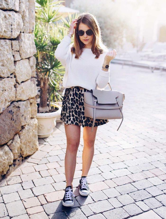 inspiration tenue0avec baskets parfait pour l automne robe ado fille idée de tenue pour ado fille mode et beauté