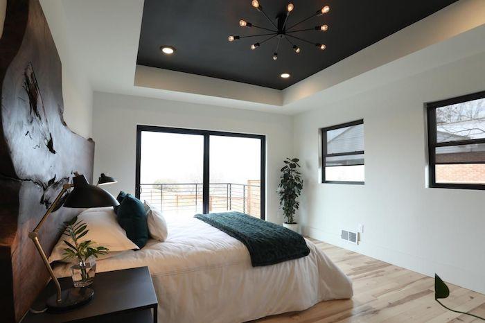 lit double tete de lit bois massif meilleure peinture plafond noir comment associer les couleurs plafond suspendu