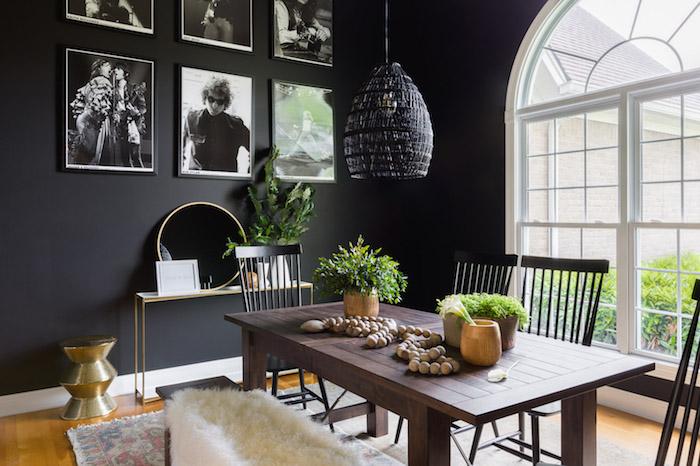 maison deco noir et blanc plafond salle de bain décoration de plafond style rustique grand fenetre arrondi