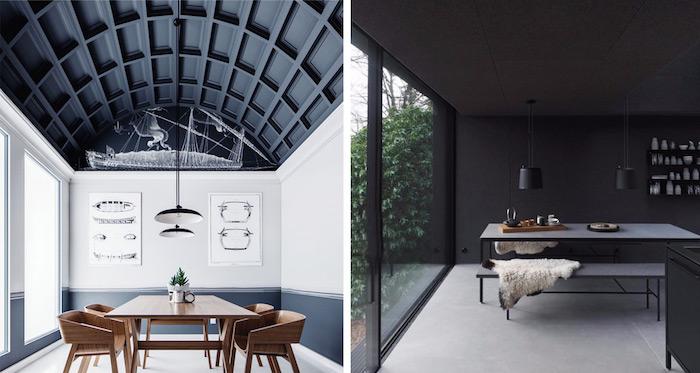 nouvelle tendance plafond noir comment peindre un plafond tendu ou ordinaire choix maison