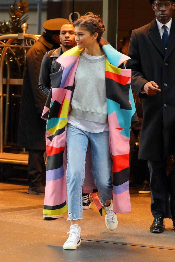quand il fait froid que porter zendaya manteau longue coloré jena confortable fille de 14 ans belle comment s habiller bien pour aller au lycée