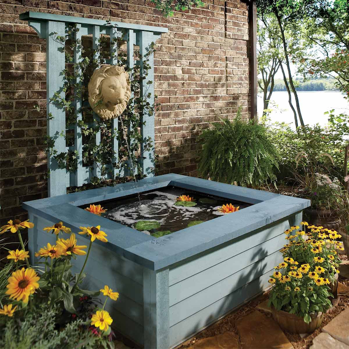 outdoor pond ideas pond in a box with regard to 11 some of the coolest tricks of how to makeover backyard ponds ideas