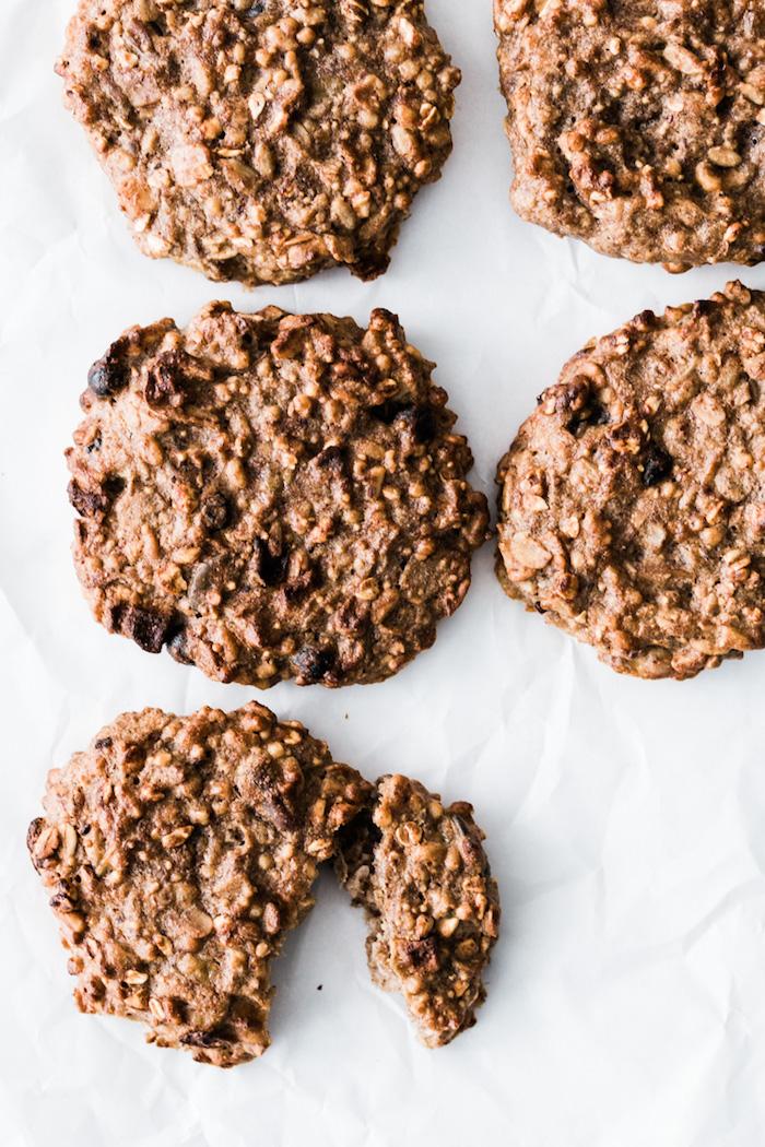 recette cookies à la granola beurre d amande et bananes 3 ingredients faire une gouter sain d apres midi repas enfant