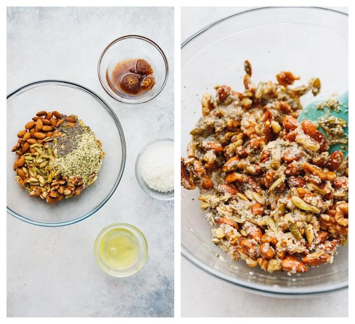 recette museli maison avec des noix et graines museli recette cetogene petit dejeuner healthy substitut de sucre et huile de coco