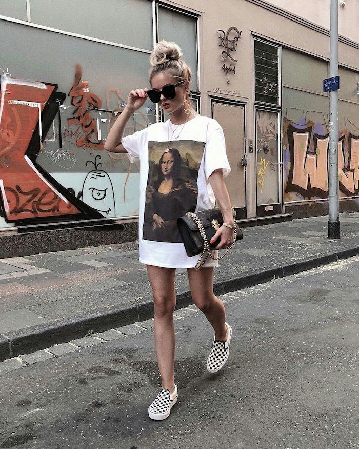 robe ado fille idée de tenue pour ado fille mode et beauté t shirt avec mona lisa et vans