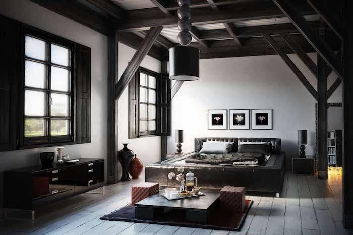 rustique peinture mur et plafond decoratif original plafond couleur maison a la campagne peinture plafond moderne maison idée renovation plafond