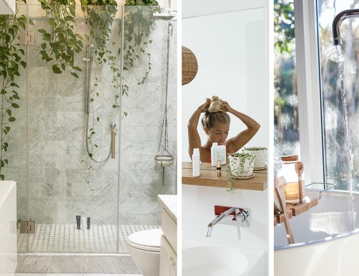 salle de bain travaux plomberie installation chauffe eau design salle de bain zen carrelage plante verte d interieur
