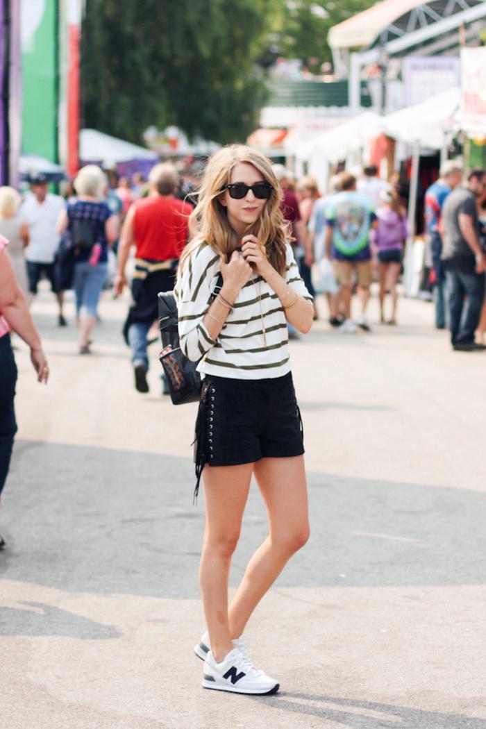 shorts noir fille tenue simple et confortable robe de soirée ado tenue pour ado fille la mode de la jeunesse