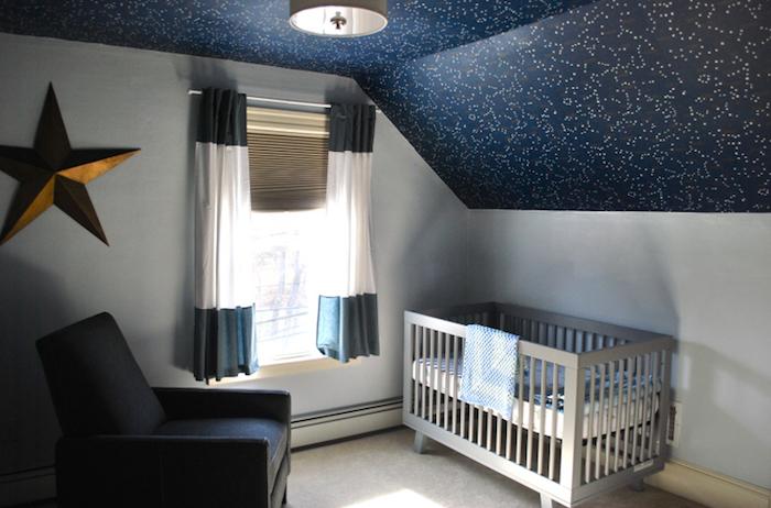tapis blanc lit bebe inspiration chambre d enfant plafond nuit etoile couleur maison lumière de jour et artificiel led pour déco joviale