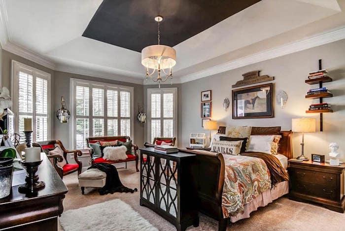 tapis blanc shaggy plafond noir comment peindre un plafond tendu ou ordinaire lustre blanc