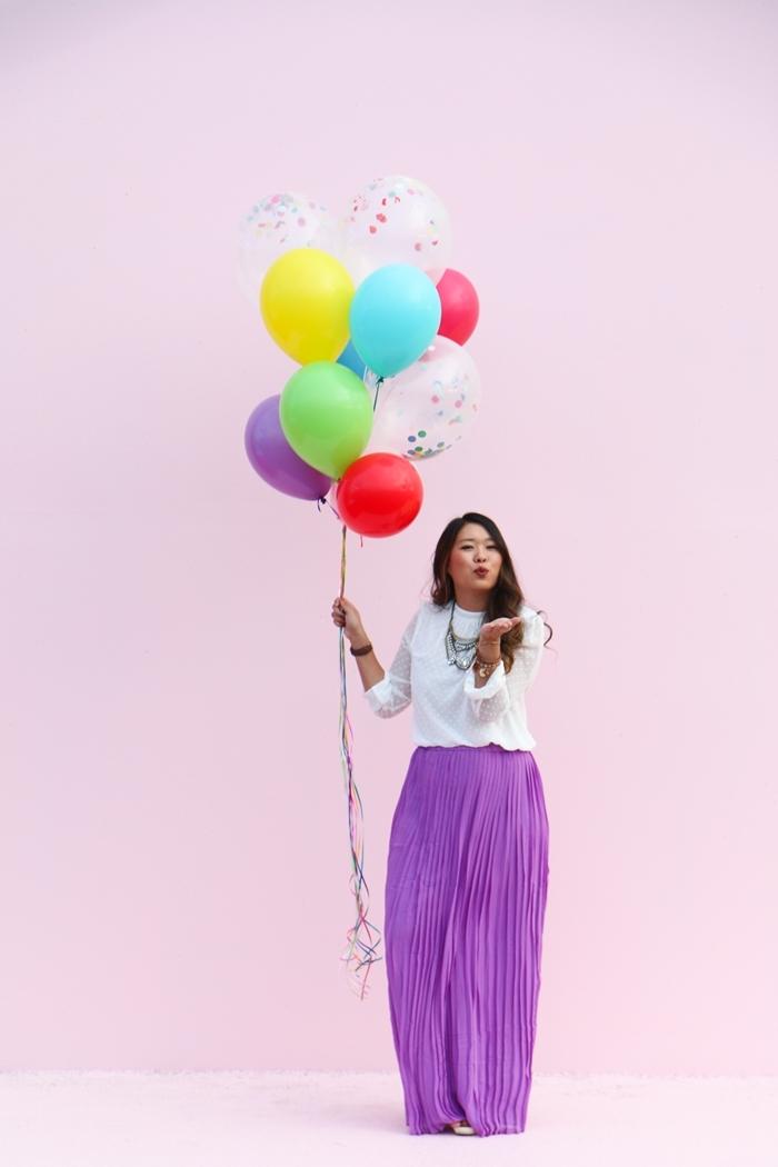 tenue de soirée pantalon et tunique célébration anniversaire comment bien s habiller femme chic pantalon fluide violet blouse blanche