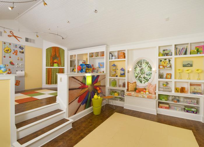 une idée comment aménager le coin créatif de votre enfant peinture salle de jeux meuble de rangement jouet décoration jolie