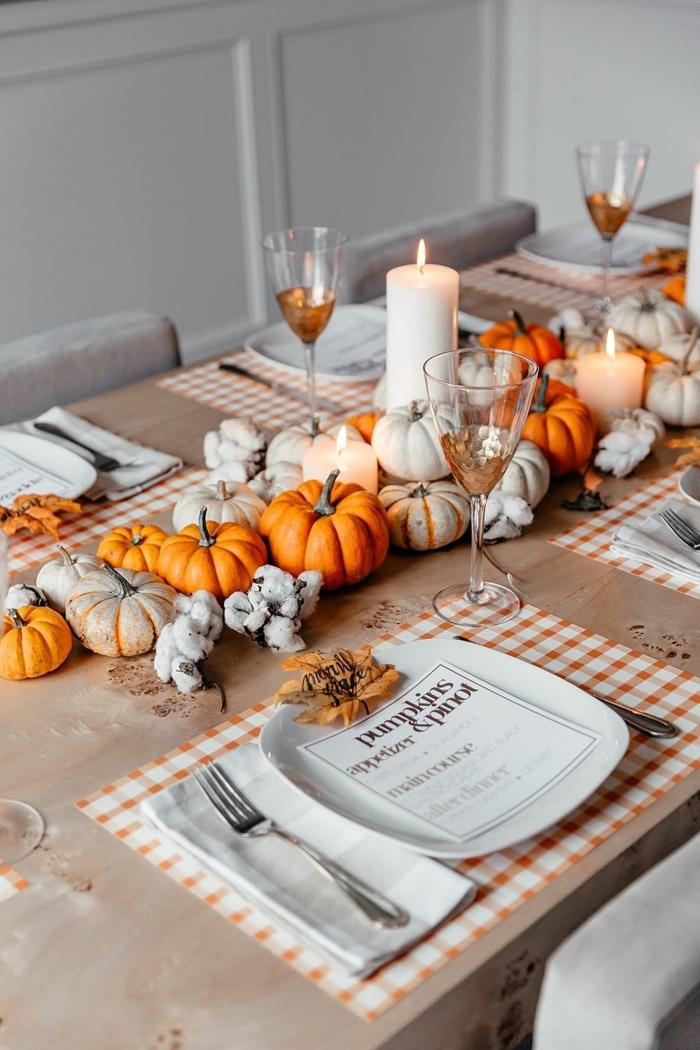 02 peindre des citrouilles miniatures bougies hautes déco table d'automne bricolage automne facile inspiration