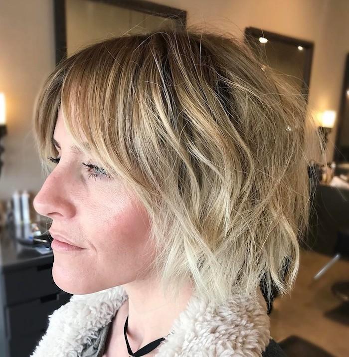 19 coupe cheveux fins femme 50 ans coiffure en couches pour et en meches blondes