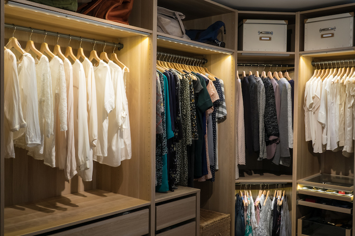 luxury walk in closet / dressing room