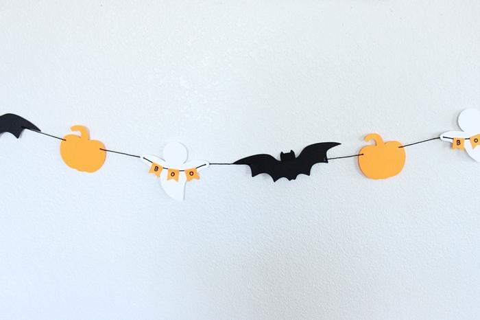 activité manuelle facile et rapide diy chauve souris papier cartonné noir deco halloween a imprimer citrouille patron