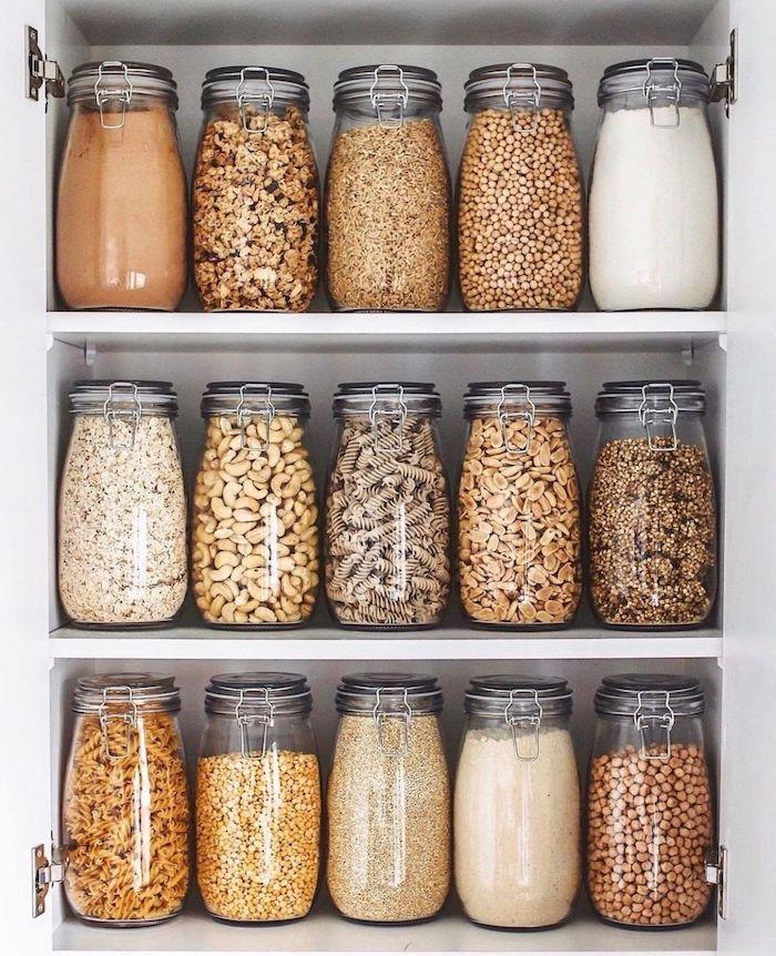 astuces rangement pour les matieres alimentaires comme les pates et graines