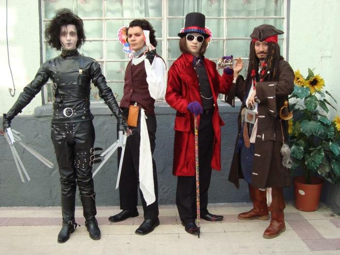 caracteres que johnny depp a joue deguisement serie netflix déguisement sur thème cinéma
