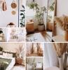 chambre coucher meubles fibre naturelle rotin chaise fauteuil deco boheme chic pampa fleur plantes vertes