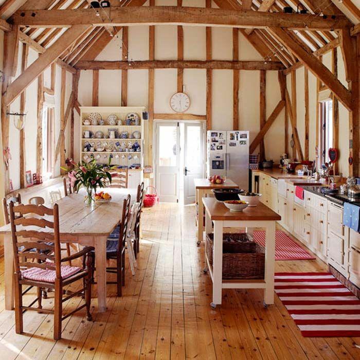 champetre chic maison montre sur la porte cuisine campagne maison cuisine au style ancienne