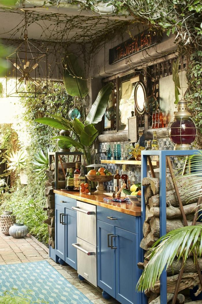 chouette idée cuisine jungle urbaine déco originale deco campagne chic cuisine champêtre originale idée