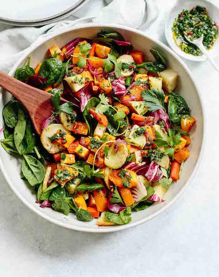 comment faire entree automne salade epinards carottes chou idee de recette automne legere