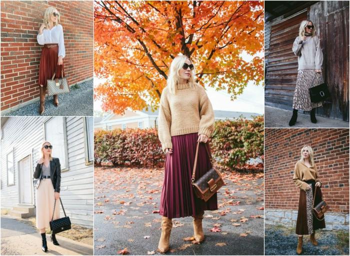 comment porter une jupe plissée en hiver jupe plissée noire blogueuse meme jupe different style