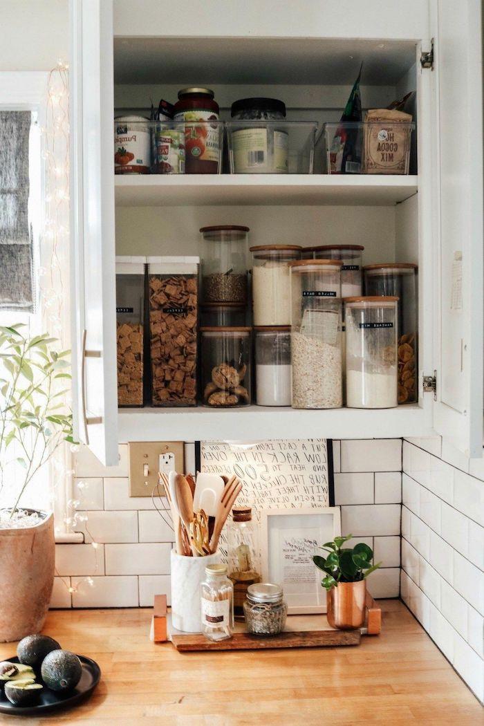 comment ranger sa chambre ou sa cuisine grace aux pots un comptoir en bois