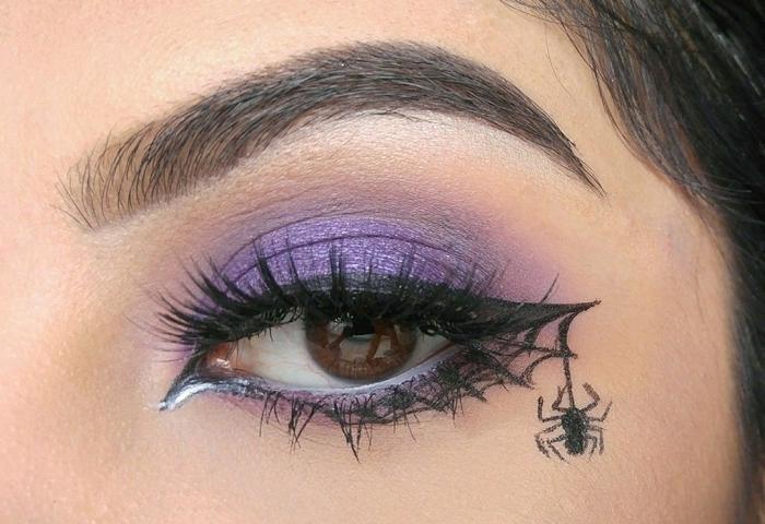 comment se maquiller les yeux noisettes pour fête déguisée idée makeup dernière minute facile maquillage halloween simple