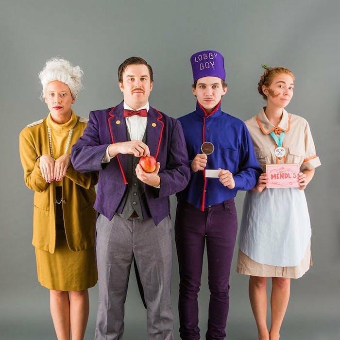 cool idée déguisement de groupe cinema deguisement trio photo de groupe grand budapest film personnages originale idée costumes