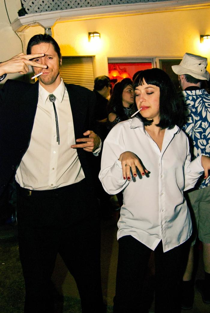 couple déguisement pulp fiction originale idée de costume halloween deguisement couple cinema