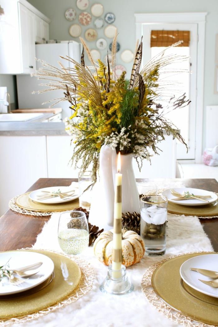 détails dorés et blanc tendance deco de table d automne a faire soi meme diy deco mariage ou un simple diner
