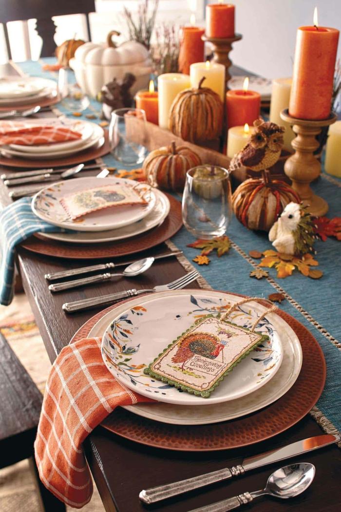 deco table automne a faire soi meme activités manuelles automne magnifique idee oranges thones